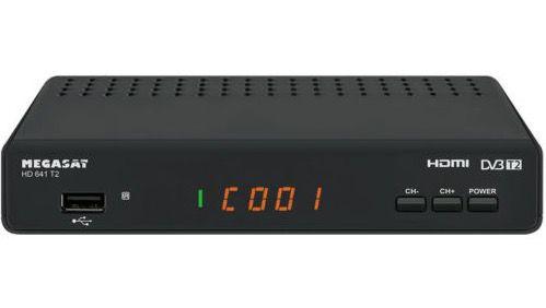 Megasat DVB T/T2 HD Receiver mit USB Medienwiedergabe für 33,33€