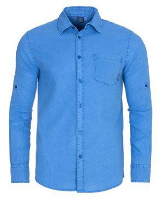 Chiemsee Leon Herren Longsleeve Hemd in Blau für 34,99€ (statt 47€)