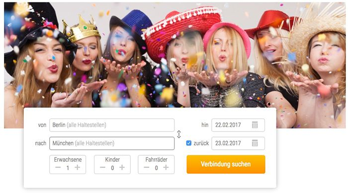 Flixbus Karneval Tickets ab 6€
