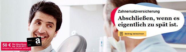 ErgoDirekt Zahnzusatzversicherung ab 3,90€ mtl. (nur 3 Monate Laufzeit) + 50€ Amazon.de Gutschein