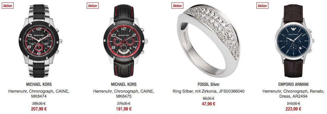 20% Rabatt auf Schmuck & Uhren bei Galeria Kaufhof