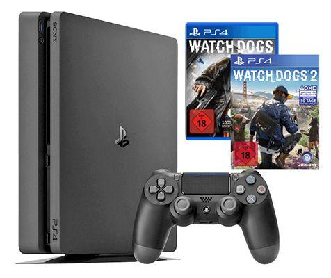 Playstation 4 slim 1TB + Watch Dogs 1 & 2 + UEFA Euro 2016 für 288,88€ (statt 325€)