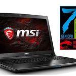 MSI GL72 7RD-003 Gaming-Notebook mit i7-7700HQ + GTX 1050 für 999€ (statt 1.111€)