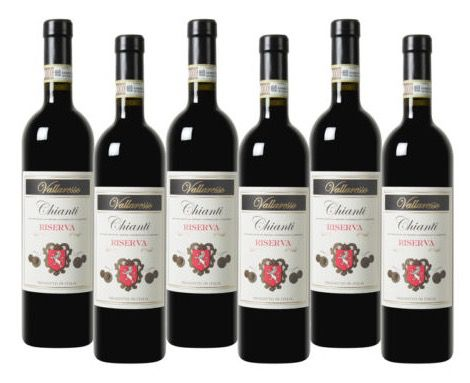 6 Flaschen Vallaresso Chianti Riserva DOCG für 35,94€   Goldprämiert