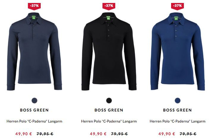 Bildschirmfoto 2017 02 24 um 15.57.06 Boss Green C Paderna Herren Langarm Poloshirt für 43,87€ (statt 56€)