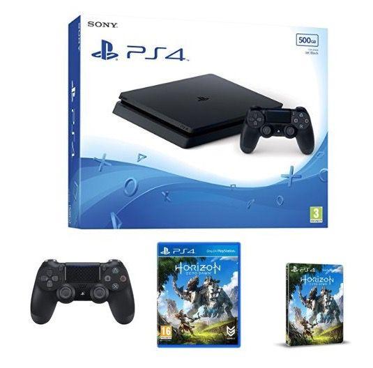 PlayStation 4 500GB slim + Horizon Zero Dawn + 2. DualShock 4 für 276€ (statt 340€)