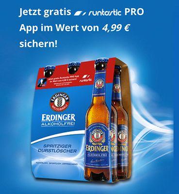 Gratis runtastic PRO App (Wert 4,99€) beim Kauf eines Erdinger Alkoholfrei Sixpacks