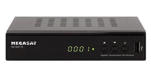 Megasat HD 640 DVB T2 Receiver für 34,95€ (statt 45€)