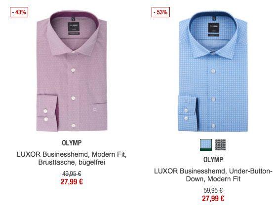 Olymp Luxor Modern Fit Hemden ab 27,99€ (statt 43€)