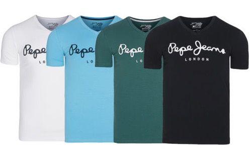 Pepe Jeans Original Stretch V Neck Herren T Shirts für je 14,99€