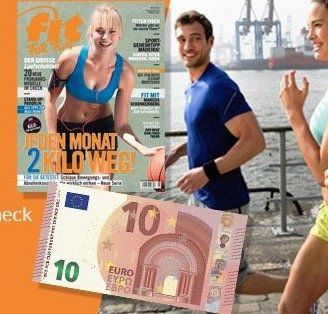 6 Ausgaben fit for fun für 9,80€ dank Bargeldprämie