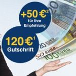 120€ für gratis Girokontoeröffnung bei der 1822direkt + 50€ für Weiterempfehlung