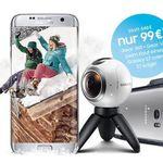 Samsung S7 + Blau AllNet + SMS Flat + 4GB LTE für 27,49€ mtl. + Option: Gear 360 Kamera und die Gear VR Brille für 99€