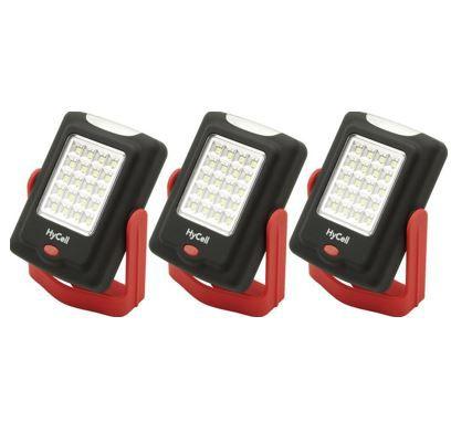 HyCell LED Mini Werkstattleuchten   3er Pack für nur 15,99€