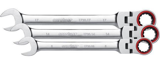Carolus Maul Gelenk Ringratschenschluessel 02 e1488014621547 Carolus by Gedore   Maul Gelenk Ringratschenschlüssel Satz (1720.016) 8   24 mm für 99,90€