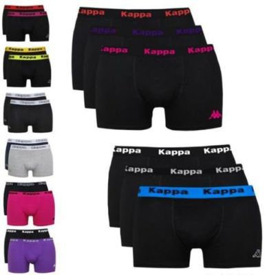 Kappa 6er Pack Boxershorts verschiedene Farbsets für je 19,90€
