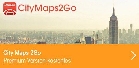 Für Telekom Kunden: CityMaps 2Go Premium (Android/iOS) kostenlos statt 3,99€
