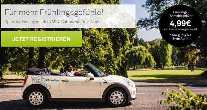 Drive Now   für Neukunden statt 29€ für 4,99€ + 15 Freiminuten