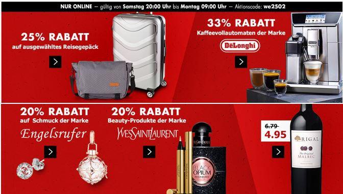 Engelsrufer Karstadt Kracher mit z.B. 20% Rabatt auf  über 25.000 Produkte aus Mode & Sport