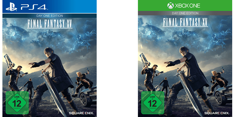 Final Fantasy XV Day One Edition PlayStation 4 Final Fantasy XV   Day One Edition (PS4, Xbox One) für 29,99€ (statt 39€)