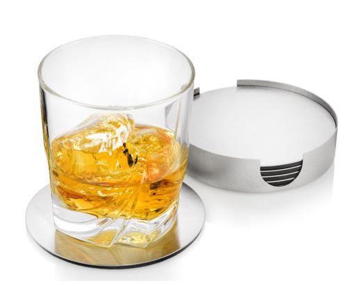 Glasuntersetzer Glasuntersetzer Set   7 teilig mit Halter für 8,99€