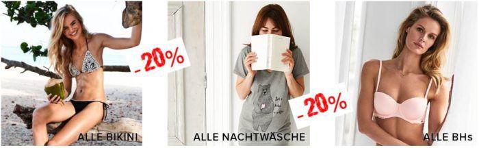 Hunkemöller Sale mit 30% auf fast Alles   günstige BHs, Slips, Nachtwäsche, Bikinis ..... bis Mitternacht