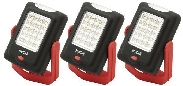 HyCell Set HyCell LED Mini Werkstattleuchten   3er Pack für nur 15,99€