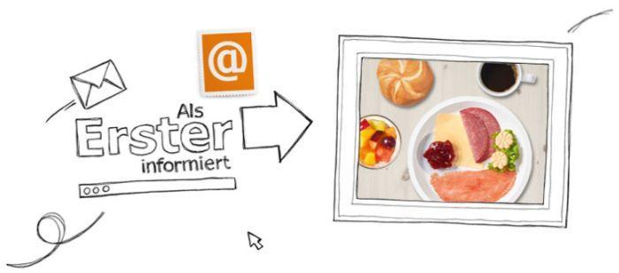 Für den Ikea Family Newsletter anmelden und Gutschein für gratis Frühstück erhalten