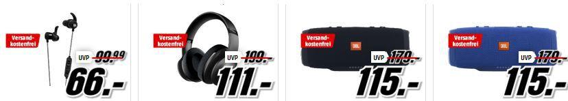 Media Markt JBL! Tiefpreisspätschicht   u.a. JBL Flip 3 Bluetooth Lautsprecher statt 80€ für 66€