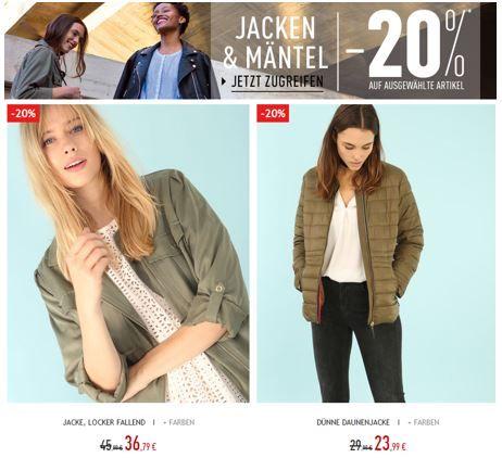 Pimkie Damen Jacken und Mäntel mit bis 20% extra Rabatt + VSK frei