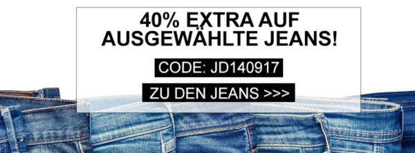 40% Extra Rabatt auf ausgewählte Jeans bei Jeans Direct    TOP!