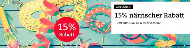 Jecken Rabatt Thalia mit 15% Rabatt auf Spiele, Musik & Filme