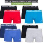 Kappa Sebo – 6er Herren Boxershorts L – XXL für 19,99€