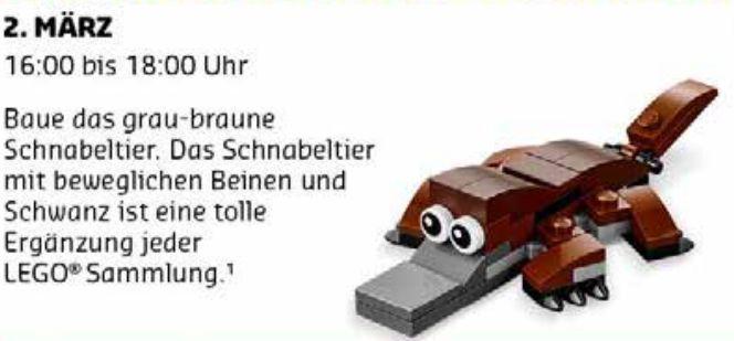 Gratis Lego Mini Bauaktion März – nur am 02.03. in teilnehmenden Lego Stores