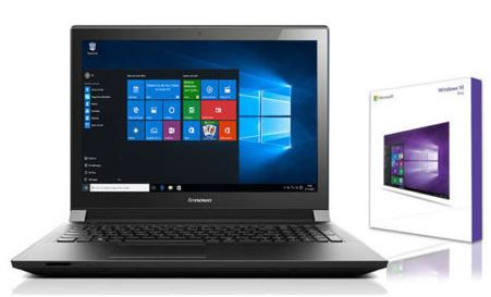 Lenovo Notebook   15,6 Zoll, Intel 2,48 GHz, 1 TB HDD, 4 GB RAM + Win 10 Pro für 229€