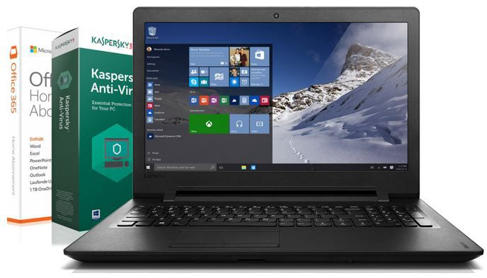 Lenovo 15,6 Noteboock mit 4GB RAM, 500GB HDD + Win 10 Pro + Office 365 + Kaspersky Anti Virus für nur 249€
