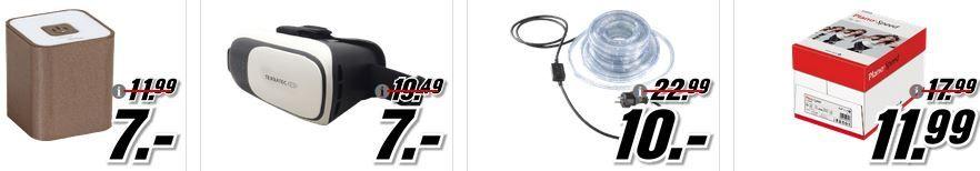 MM kleine Preis Media Markt  Tiefpreisspätschicht   u.a. Panasonic Batterien für 1€   ULTRON Bluetooth Lautsprecher  für 7€