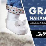 Nähanleitung und Schnittmuster für Babyschuhe gratis (statt 2,90€) + Gutschein on top