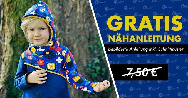 Nähanleitung und Schnittmuster für Kinderpulli/Tunika gratis (statt 7,50€)