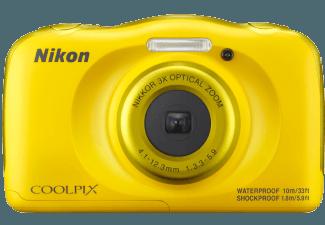 NIKON-Coolpix-W-100---Rucksack-Kompaktkamera-Gelb--13.2-Megapixel