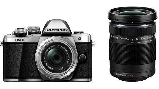Olympus OM D E M10 Mark II   Systemkamera + 4 42 mm II R + 40 150 mm II R Objektiv für 579€ (statt 699€)