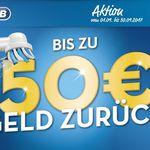 Top! Bis zu 50€ Cashback auf ausgewählte Oral-B Zahnbürsten bis 30.09.2017