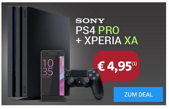 Sony Xperia XA + PS4 Pro + Vodafone AllNet +SMS Flat + 6GB für 33,33€ mtl.   nur Junge Leute