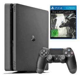 PS4 1TB Entertainment Weekend Deals bei Saturn: z.B.  PlayStation 4 Slim 1TB + The Last Guardian für 269€