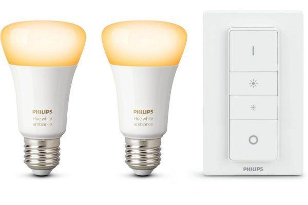 2er Pack Philips Hue White Ambiance E27 + Dimmschalter für 49€ (statt 60€)