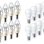 Philips LED Lampe E27/E14 – 8er Pack dimmbar für nur 19,99€