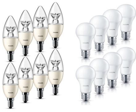 Philips Led Lampe E27 E14 8er Pack Dimmbar Fur Nur 19 99