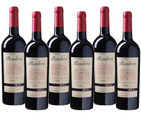 Picadora Cabernet Merlot   6 Flaschen chilenischer Rotwein 2015 für 29,94€
