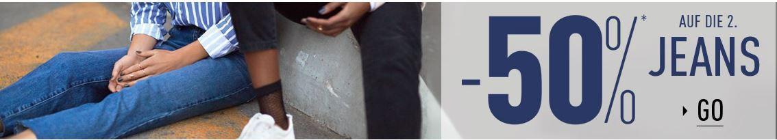 Pimkie mit 50% Rabatt auf die 2te Bluse oder Jeans + VSK frei ab 20€
