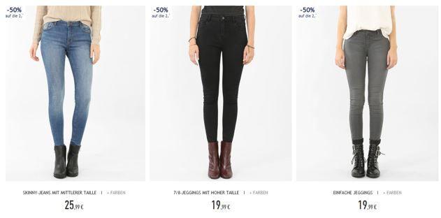 Pimkie Jeans Rabatt Pimkie mit 50% Rabatt auf die 2te Bluse oder Jeans + VSK frei ab 20€